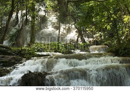 Waterfall In Forest, Abundance Of Nature,abundance And The Beauty Of Nature