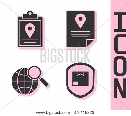 Set Delivery Pack Security With Shield, Document Tracking Marker System, Magnifying Glass With Globe