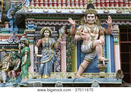 Sculptures Of Hinduist Temple In South India