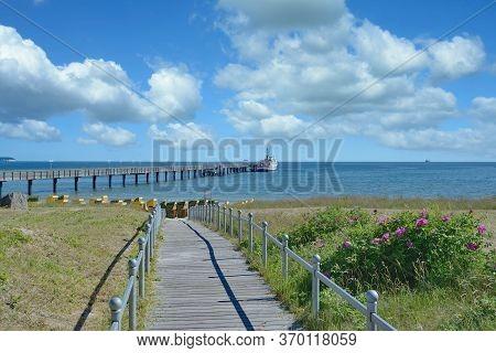 Beach Of Binz On Ruegen At Baltic Sea,mecklenburg-vorpommern,germany