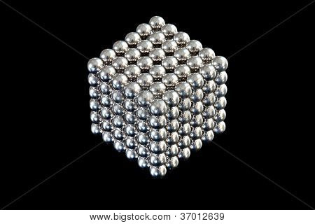 Cube Of Magnetic Balls
