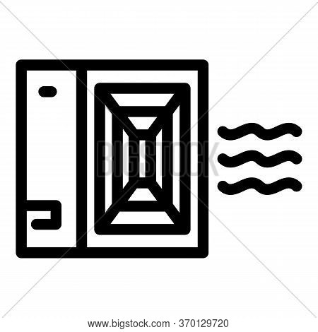 Vent Air Circulation Icon. Outline Vent Air Circulation Vector Icon For Web Design Isolated On White