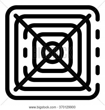 Air Ventilation Cover Icon. Outline Air Ventilation Cover Vector Icon For Web Design Isolated On Whi