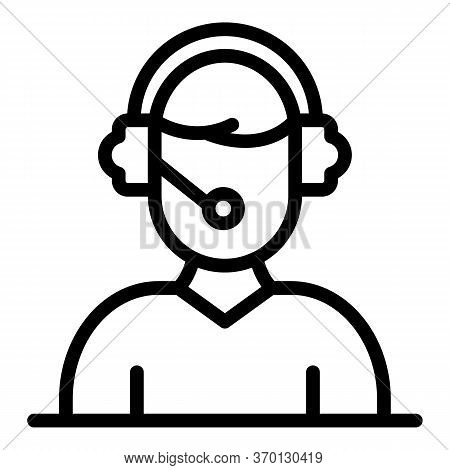 Credit Support Operator Icon. Outline Credit Support Operator Vector Icon For Web Design Isolated On