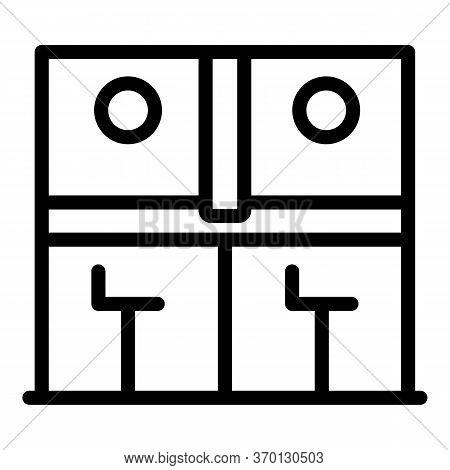 Bank Teller Work Icon. Outline Bank Teller Work Vector Icon For Web Design Isolated On White Backgro