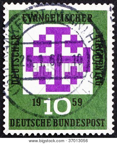 Postage stamp Germany 1959 Synod Emblem, Munich