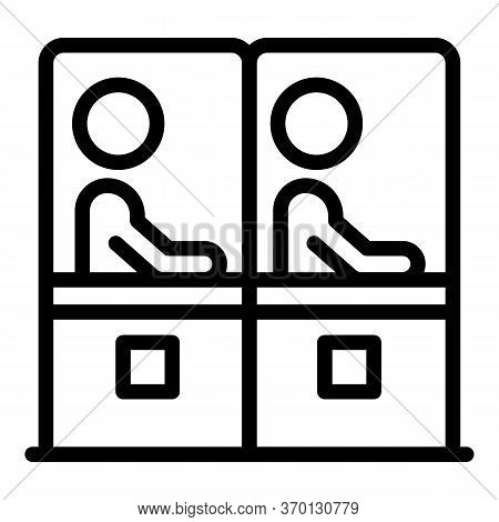 Bank Tax Tellers Icon. Outline Bank Tax Tellers Vector Icon For Web Design Isolated On White Backgro