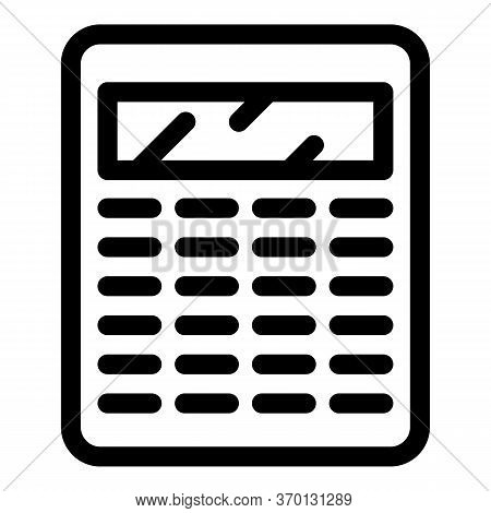 Accountant Calculator Icon. Outline Accountant Calculator Vector Icon For Web Design Isolated On Whi