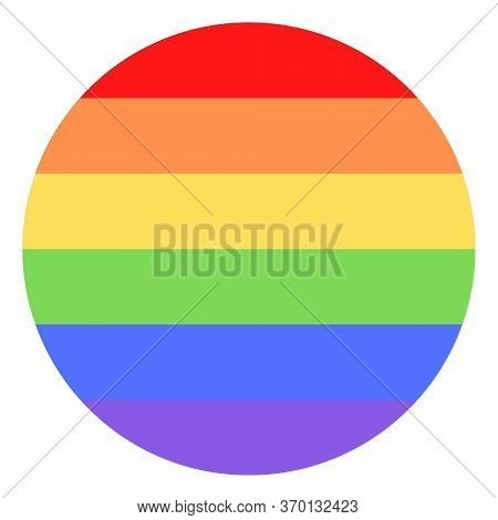 Illustration Of Colorful Rainbow / Pride Flag / Banner Of Lgbtq (lesbian, Gay, Bisexual, Transgender