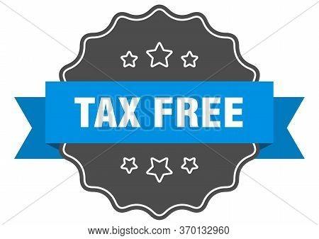 Tax Free Blue Label. Tax Free Isolated Seal. Tax Free