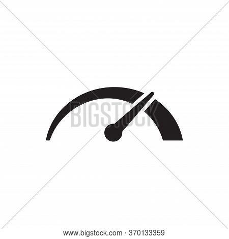 Speedometer Icon Isolated On White Background. Speedometer Icon In Trendy Design Style For Web Site
