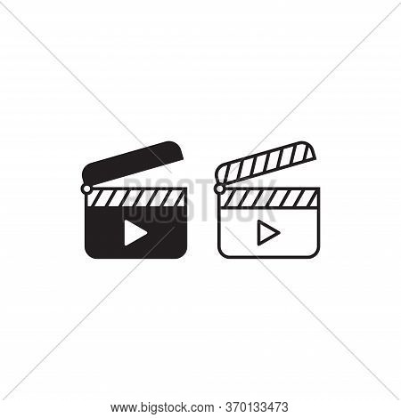 Clapperboard Icon Isolated On White Background. Clapperboard Icon In Trendy Design Style For Web Sit