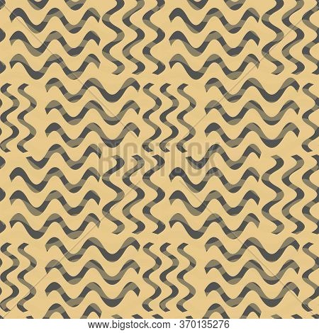 Seamless Pattern In Brown Abstract Spots. Simple Background For Textile, Pattern Fills, Covers, Surf
