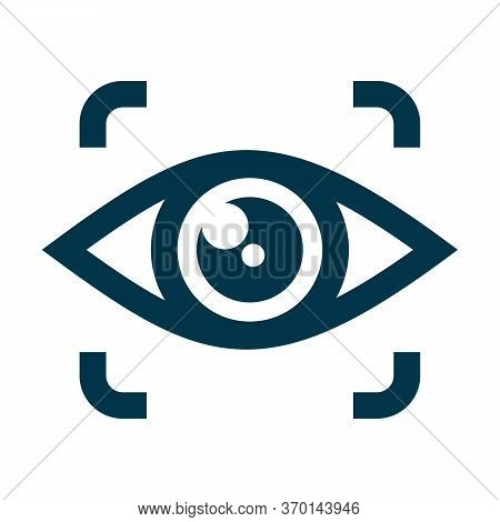 Eye Scan Icon Isolated On White Background From Security Collection. Eye Scan Icon Trendy And Modern