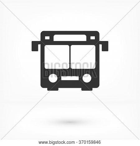 Vector Bus Icon, Solid Logo Illustration, Vector Bus Icon, Pictogram Isolated Vector Bus Icon, On Wh