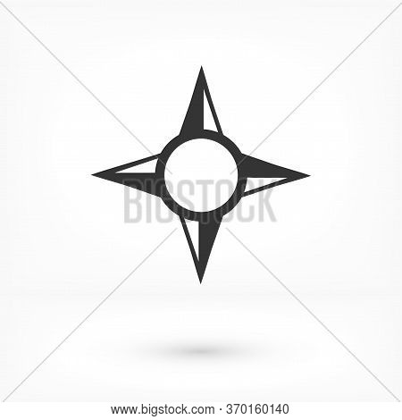Compass Icon Vector. Compass Navigation Symbol Illustration. Icon Vector Simple Design On White Back