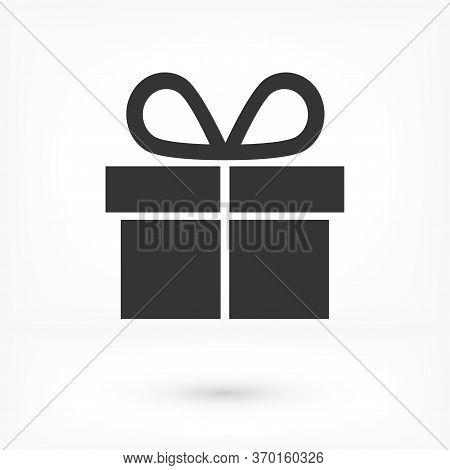 Illustration Of Gift Box Vector Icon O Background. Christmas Gift Vector Icon Illustration Vector Ic