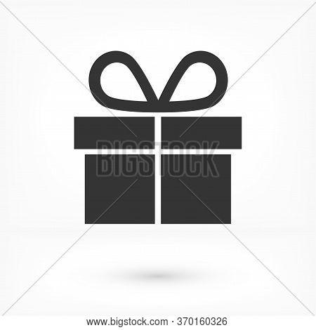 Illustration Of Gift Box Vector Icon O Background. Christmas Gift Vector Icon Illustration Vector Ic