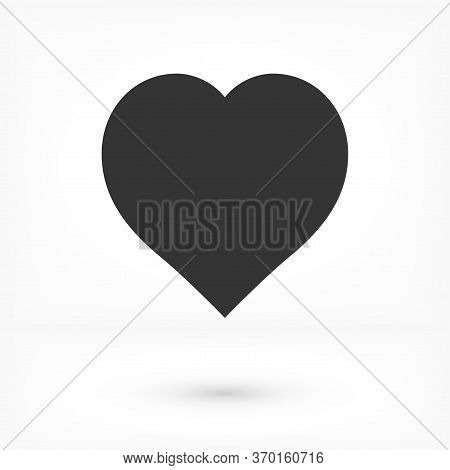 Heart Vector Icon. Outline Love Vector Icon Signs Isolated On A Background. Vector Icon Gray Black G