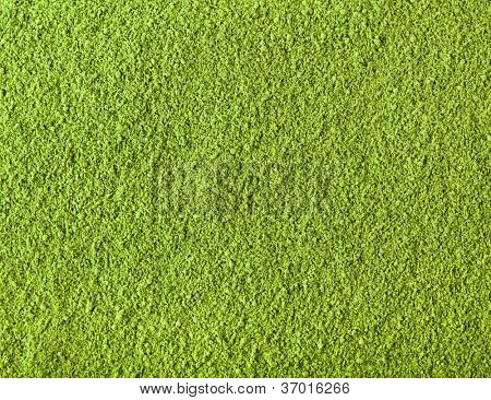 Background of green powder matcha tea poster