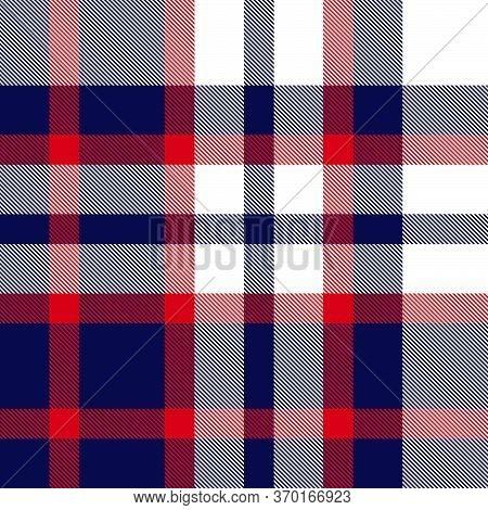 Red And Navy Plaid Tartan Seamless Pattern