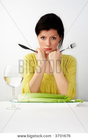 Young Woman Having Her Breakfast