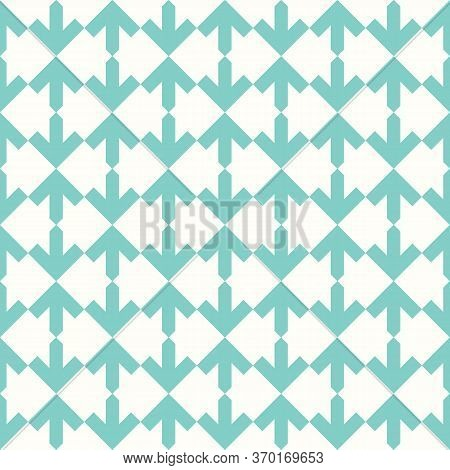 Arrows. Repeated Arrowheads Ornamental Background. Ethnic Wallpaper. Tribal Embroidery Motif. Tribe
