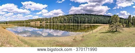 Divide Lake On Gallatin Road 191 In Wyoming On West Entrance To Yellowstone National Park