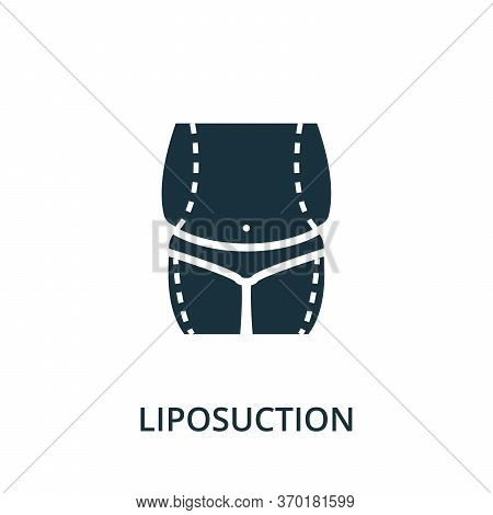 Liposuction Icon From Plastic Surgery Collection. Simple Line Element Liposuction Symbol For Templat