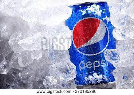 Can Of Pepsi In Crushed Ice