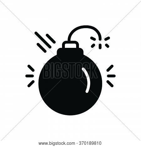 Black Solid Icon For Disruptive Harmful Detrimental Noxious Deleterious Injurious Danger Blast Dange
