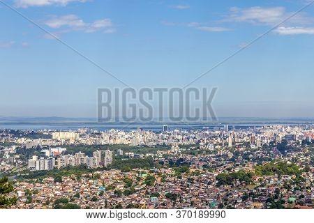 Porto Alegre City From Morro Santana Mountain