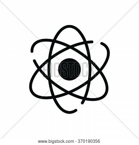 Black Solid Icon For Atomizing  Molecules  Quantum  Atom Particle Orbiting Symbol