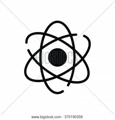 Black Solid Icon For Atomizing  Molecules  Quantum  Atom Particle Orbiting Symbol