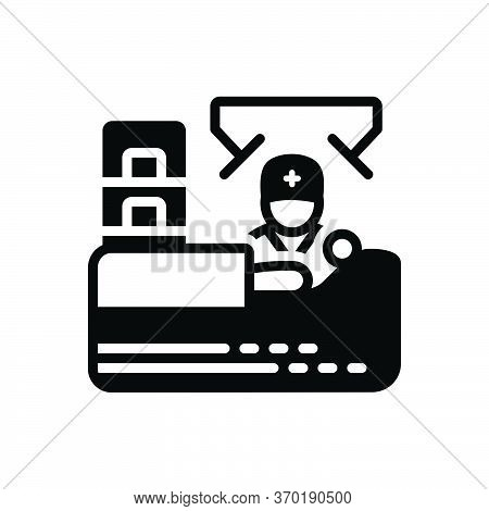 Black Solid Icon For Operation Manipulation  Surgery Healthcare Occupation