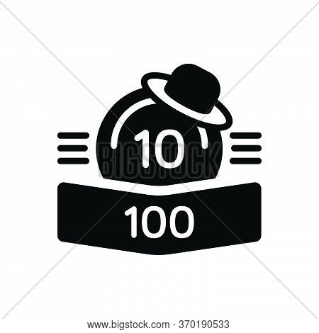 Black Solid Icon For Points Score Rank Score-board Number