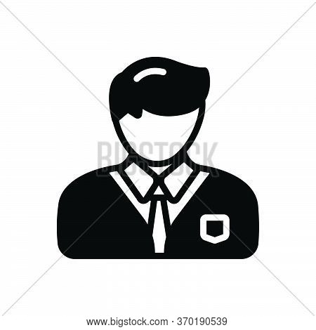 Black Solid Icon For Professional Professed Occupational  Entrepreneur Business-man