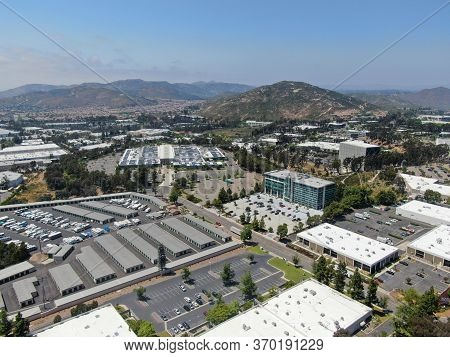 Aerial View To Industrial Zone And Company Office, Storage Warehouse In Rancho Bernardo Executive Ce