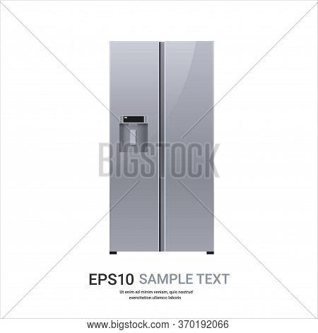 Stainless Steel Refrigerator Side By Side Fridge Freezer Modern Kitchen Household Home Appliance Con
