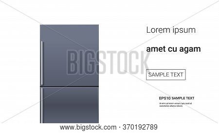 Stainless Steel Refrigerator Double Door Fridge Freezer Modern Kitchen Household Domestic Appliance