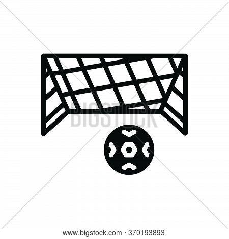 Black Solid Icon For Net Mesh Snare Toils Netting Ball Soccer-ball