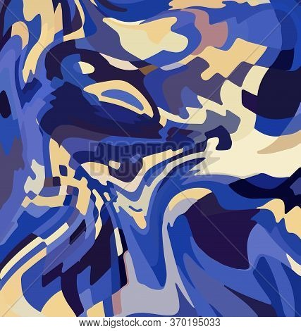 Colored Background Image Abstract Ornament Blue And Beige