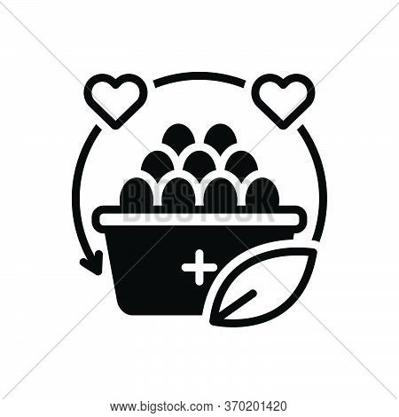 Black Solid Icon For Nutrition Nourishment Alimental Alimentary Alimentation Healthy Diet