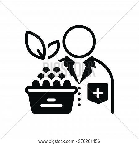 Black Solid Icon For Nutritionist  Dietician Diet-consultation Healthcare Doctor Diet