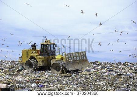 June 6 2020 - Calgary Alberta Canada - Calgary Landfill Site
