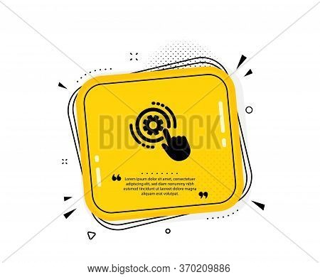 Cogwheel Settings Icon. Quote Speech Bubble. Engineering Tool Sign. Cog Gear Symbol. Quotation Marks