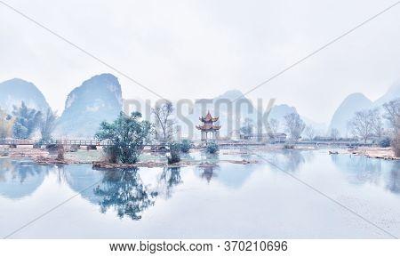 Pavilion in Jingxi, Guangxi, China