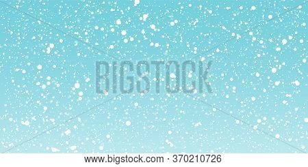 Snow Winter Background. White Snowflakes. Winter Falling Snow. Vector Illustration. Snowfall Backgro