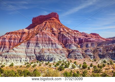 Grandiose mountains of red sandstone. Arizona, Utah.Paria Canyon-Vermilion Cliffs Wilderness Area. Independent travel to the USA. The concept of active, extreme and photo tourism
