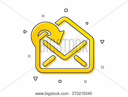 Incoming Messages Correspondence Sign. Receive Mail Download Icon. E-mail Symbol. Yellow Circles Pat